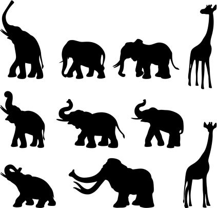 Clipart Elephant Trunk Up.