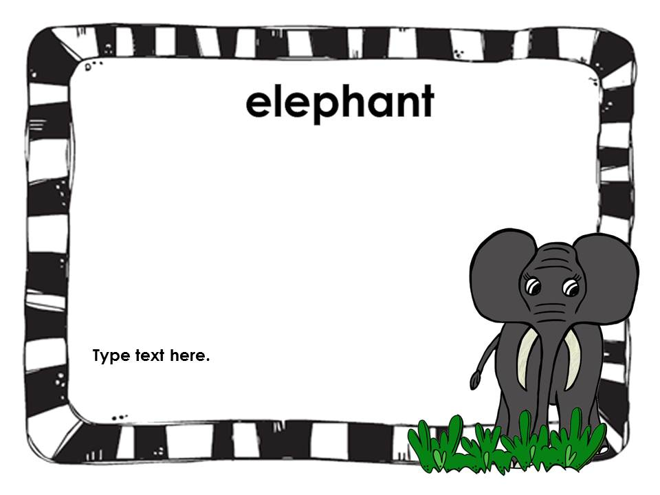 Clip Art by Carrie Teaching First: Trip to the Zoo Interactive.
