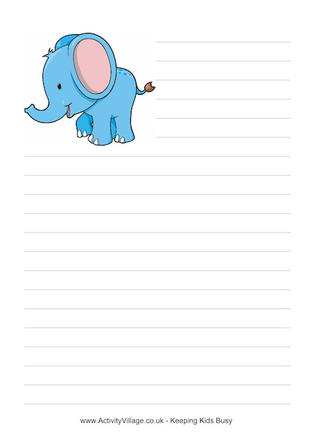 elephant writing clipart clipground writing paper elephant writing paper