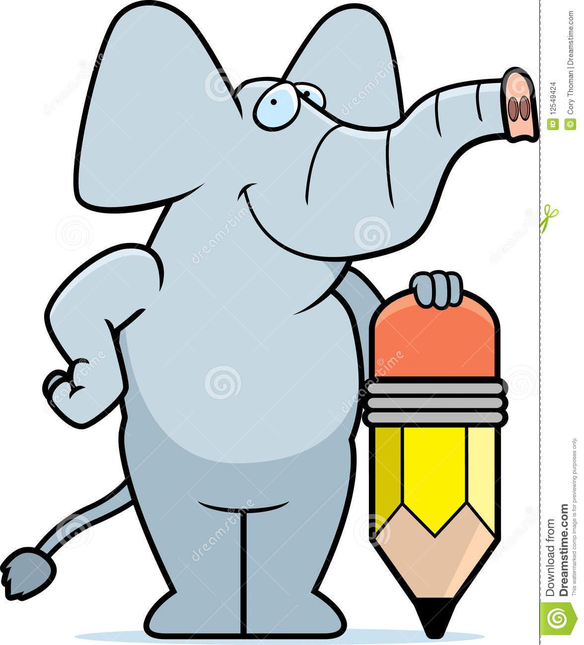Elephant Pencil Stock Images.