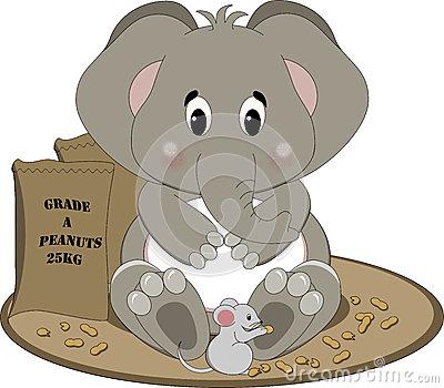 Elephant Eating Stock Illustrations.