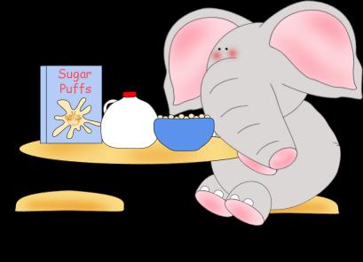 Elephant Eating Clip Art.