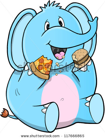 Elephant Eating Stock Photos, Royalty.
