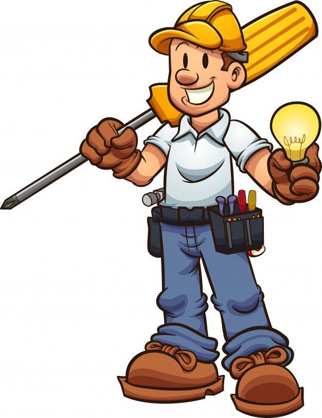 Eletricista Dos Desenhos Animados.