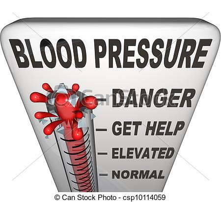 Elevated Blood Pressure Clipart.