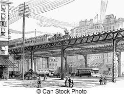 Elevated railway Stock Illustration Images. 48 Elevated railway.