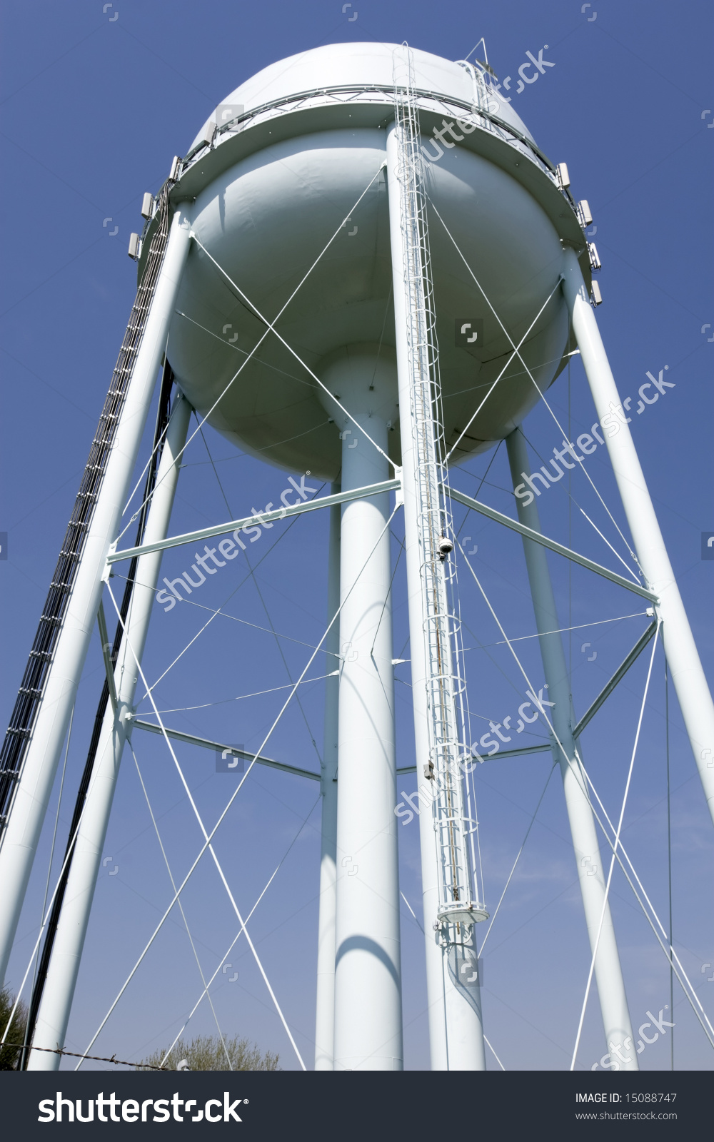 Elevated Water Tank Stock Photo 15088747.