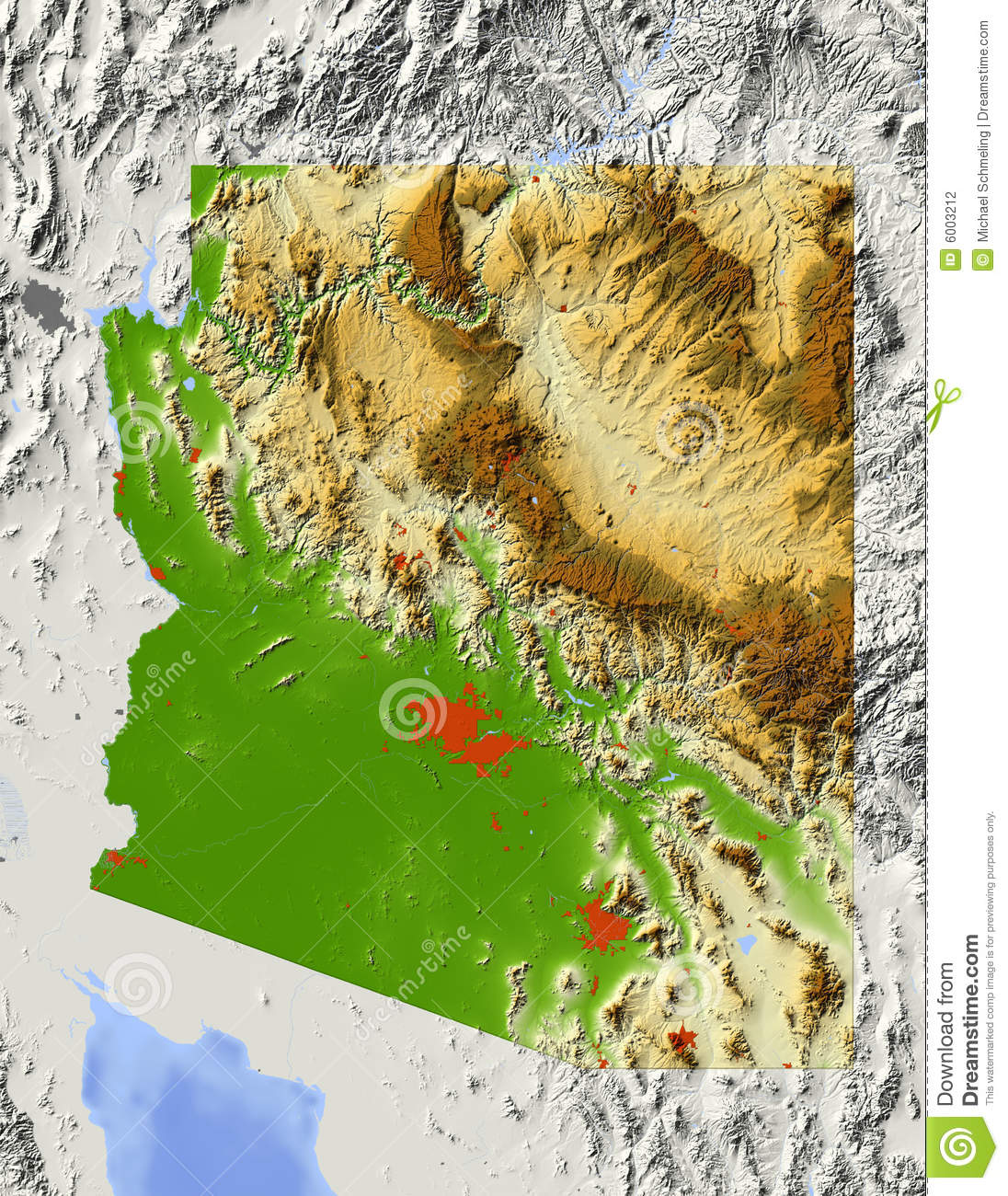 Topographic Map Arizona.Arizona Topographic Map Clipart Clipground