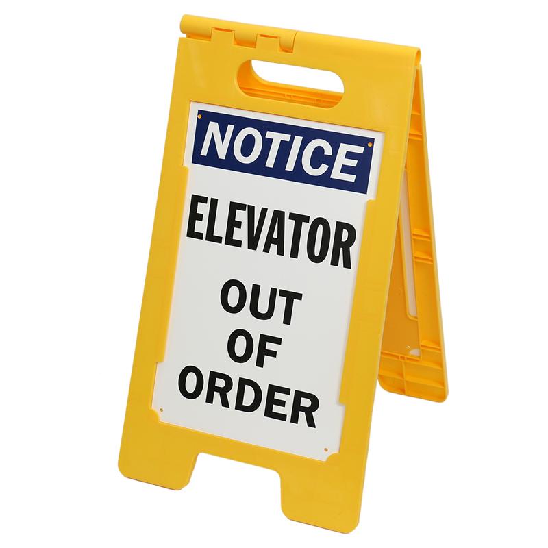 Notice Elevator Out of Order Standing Floor Sign, SKU.