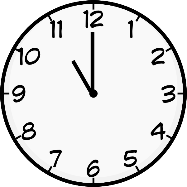 Eleven O Clock Clip Art at Clker.com.
