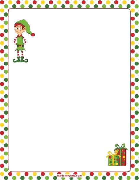 Christmas Border Clipart Elf.