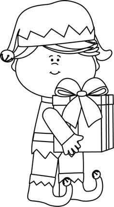 Elf clipart black and white 1 » Clipart Portal.