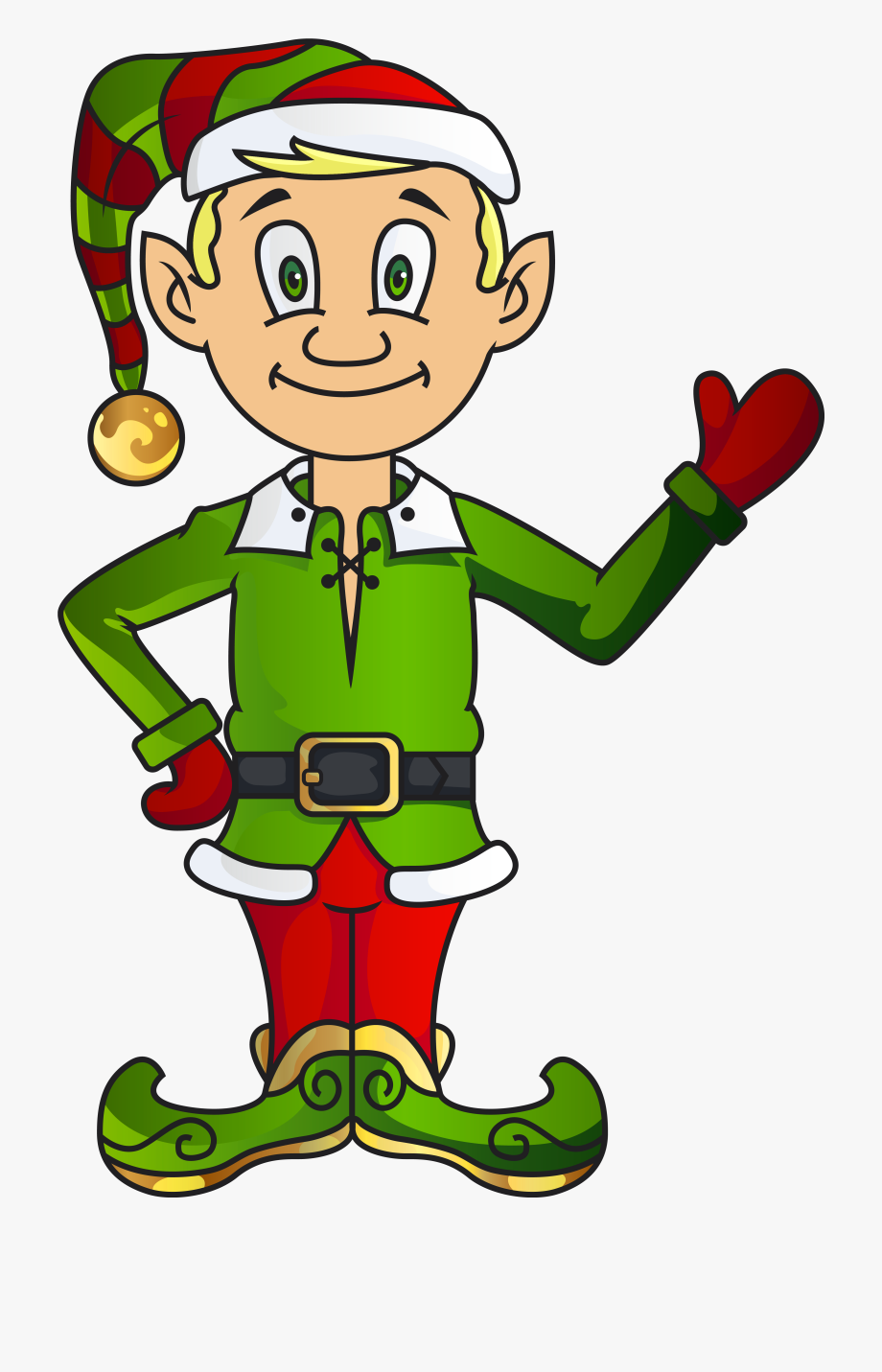 Christmas Elf Clipart Transparent Collection.