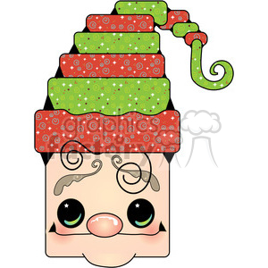Elf Head clipart . Royalty.