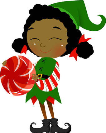 2428 Christmas Elf free clipart.