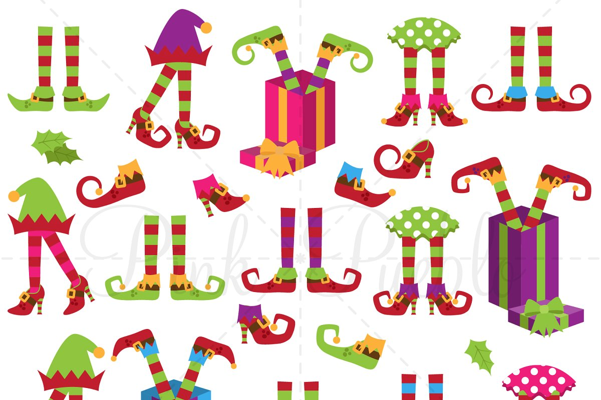 Christmas Elf Legs Clipart & Vectors.