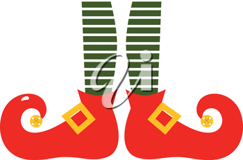 Royalty Free Clipart Image of Elf Legs.