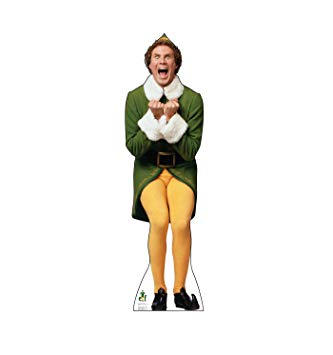Advanced Graphics Buddy The Elf Excited Life Size Cardboard Cutout Standup.