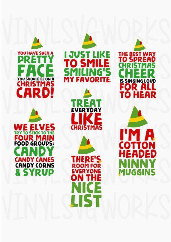 Elf Movie Quotes SVG FILE PACK.