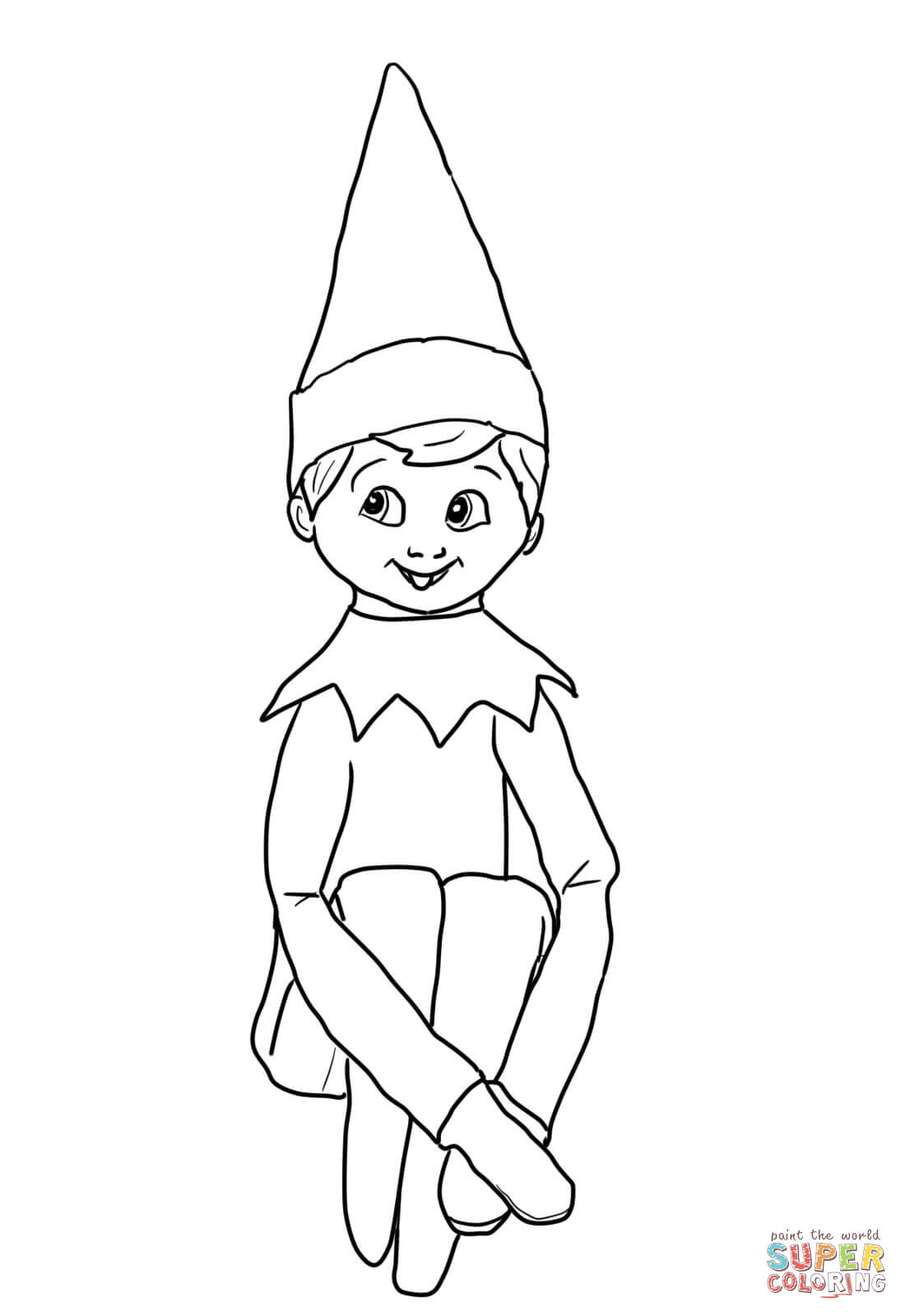 Elf black and white elf on the shelf clipart cliparts databases.
