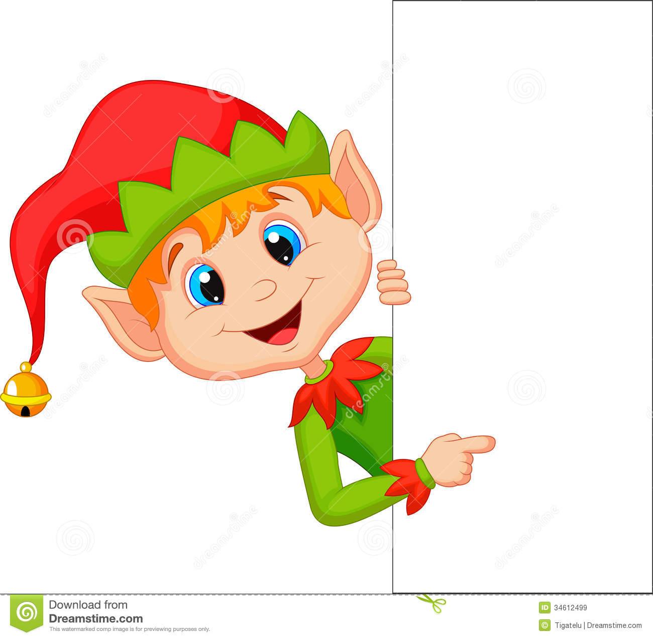 Cartoon Elf Clipart.