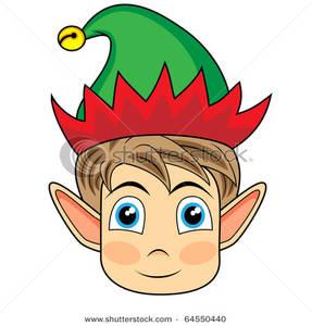 Elf Head Clipart.