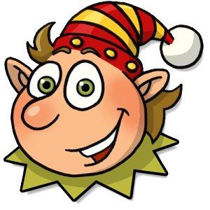 Elf head clipart png.