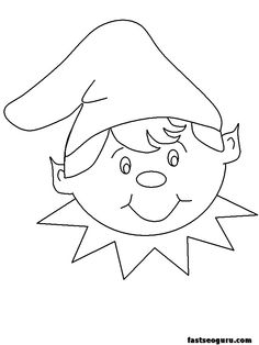 Online Santa Printables and Coloring Pages.