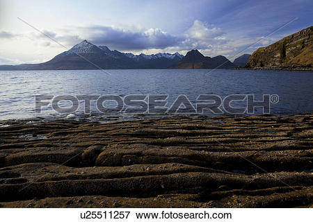 Picture of Scotland, Isle of Skye, Elgol. A view across Loch.