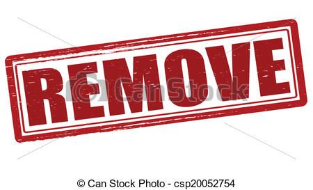 Clipart Vector of Remove.