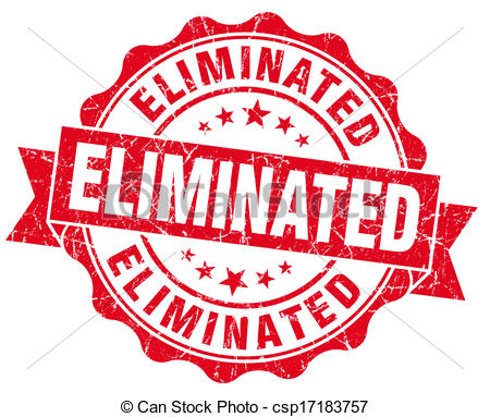 Drawing of Eliminated red grunge stamp csp16631245.