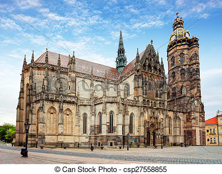 Stock Images of Kosice, Cathedral of St. Elizabeth, Slovakia.
