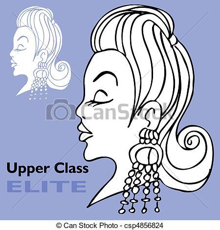EPS Vector of Elite Girl with Big Earrings.