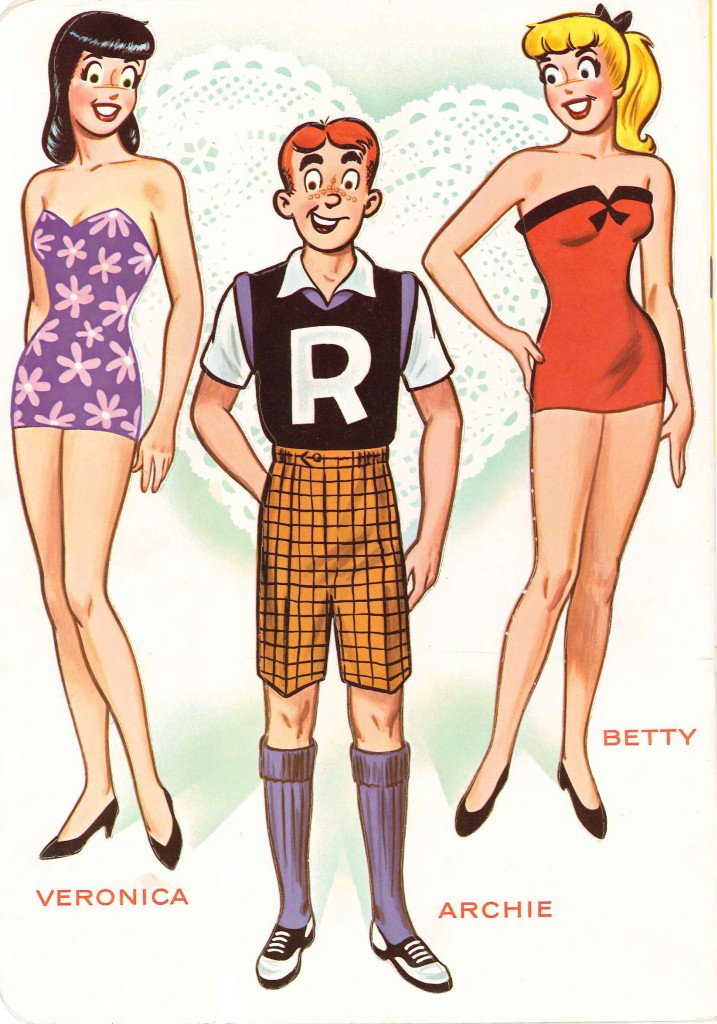 Archie's Girls. Betty and Veronica paperdolls * 1500 paper dolls.