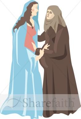 Virgin Mary's Visitation to Elizabeth.