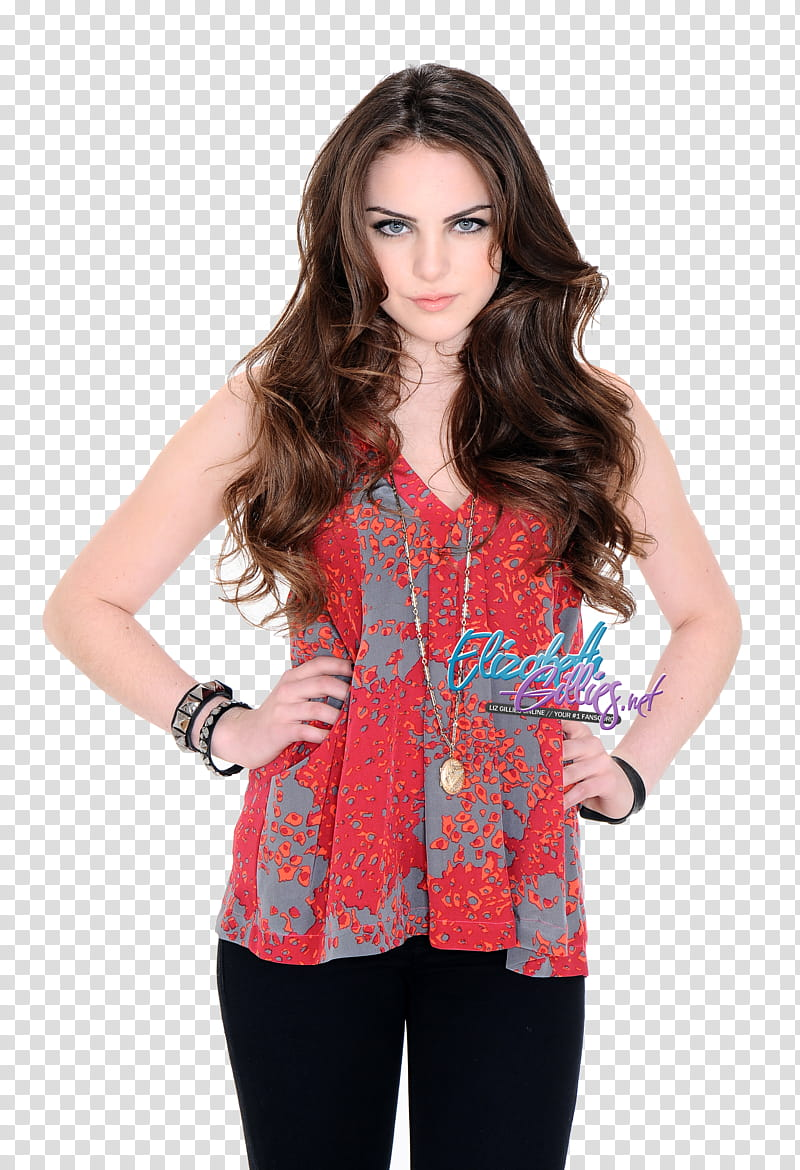 Elizabeth Gillies transparent background PNG clipart.