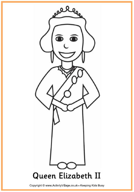 Queen elizabeth cartoon clipart.
