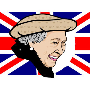 Queen Elizabeth II Vector Portrait.