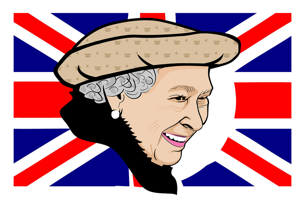 Queen Elizabeth II Vector Illustration.