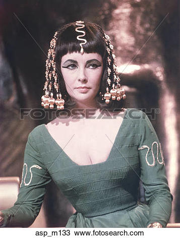 Stock Photo of 1960S Elizabeth Taylor As Cleopatra In The 1963.