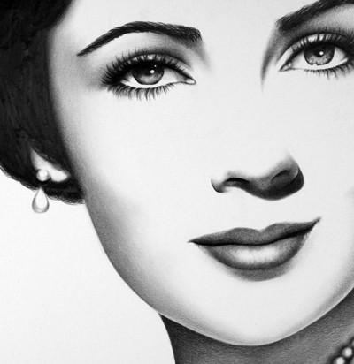Elizabeth Taylor Sketch.