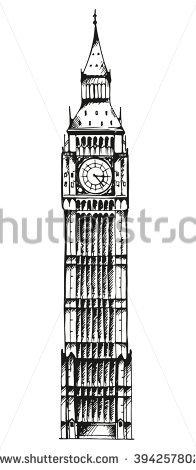 Vector Illustration Big Ben Elizabeth Tower Stock Vector 298537178.