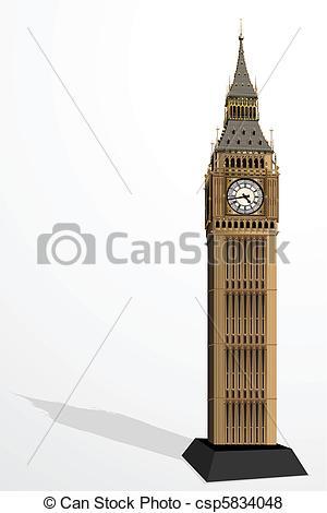 Vector of Big Ben Tower.