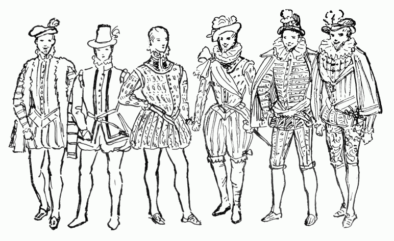 Guide to William Shakespeare: The Elizabethan Male Fashions, 16th.