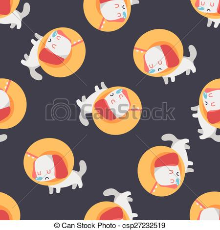 Vector Clip Art of Pet Elizabethan collar flat icon with long.