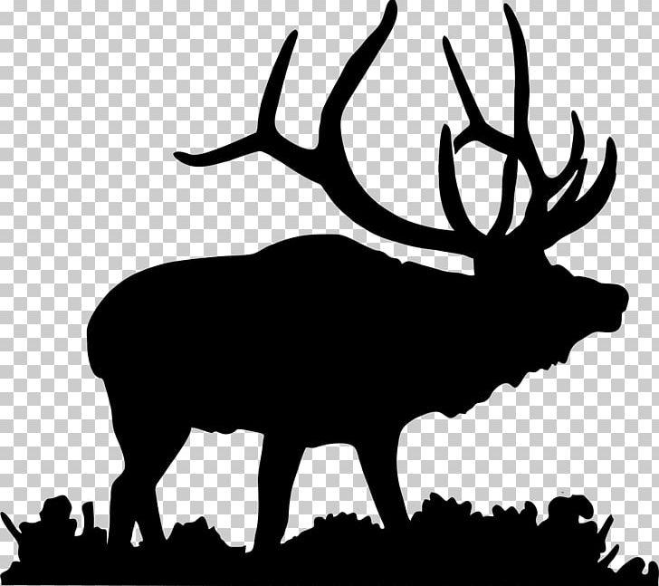 Elk Deer Moose PNG, Clipart, Animals, Antler, Black And White, Clip.