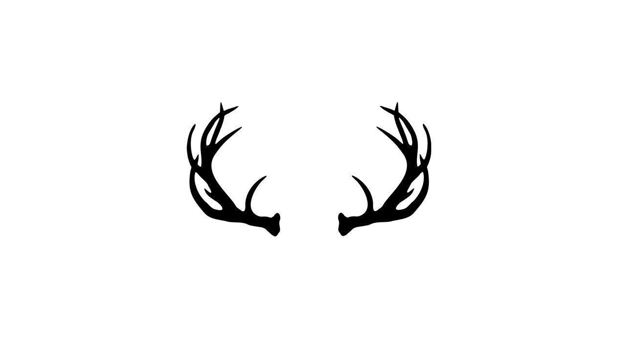 Vector Deer Antler Clip Art Deer Antler by DonaldMorrisGraphics.