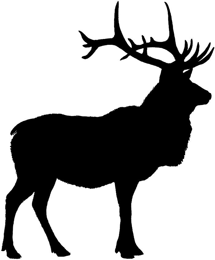 Elk clipart silhouette.