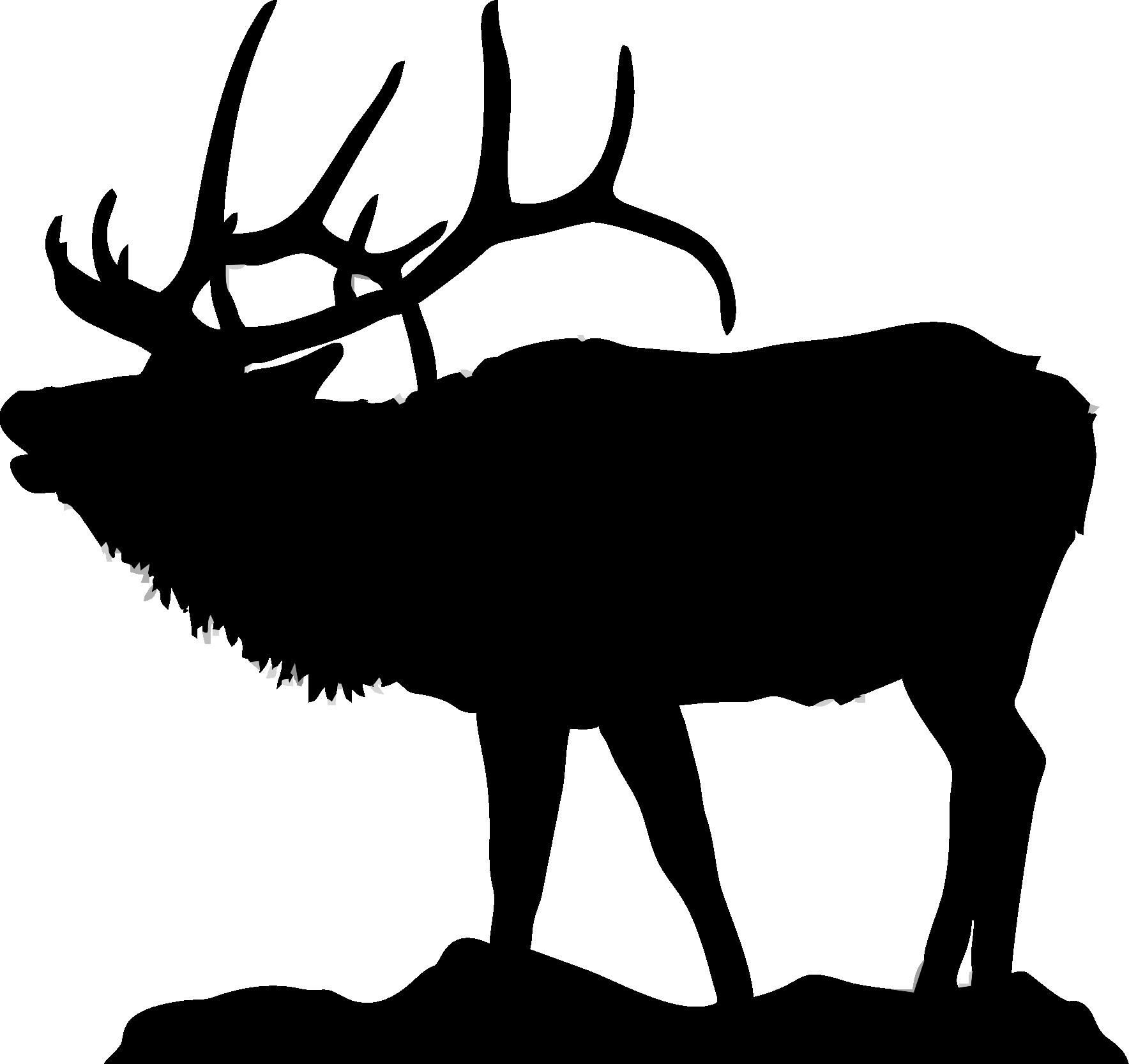 Elk head silhouette clip art.
