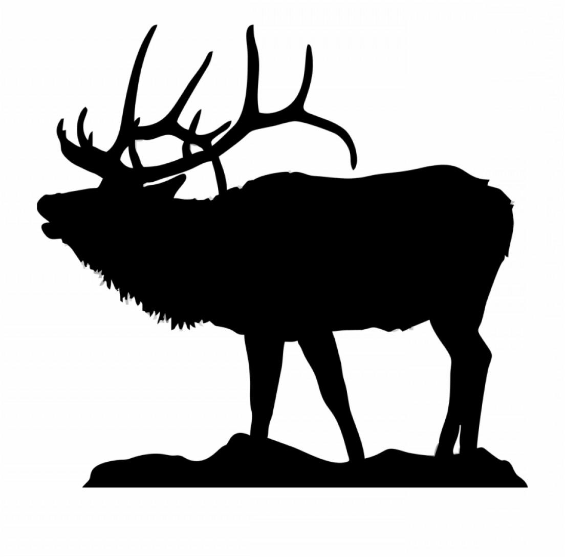 Hmmbtbsilhouette Of Elk At Getdrawings Elk Clip Art.